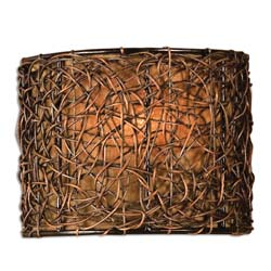 Uttermost 22466 Knotted Rattan 1 Light Wall Sconce