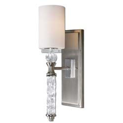 Uttermost 22486 Campania 1 Light Carved Glass WallSconce