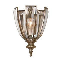 Uttermost 22494 Vicentina 1 Light Crystal Wall Sconce