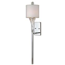Uttermost 22495 Grancona 1 Light Chrome Wall Sconce
