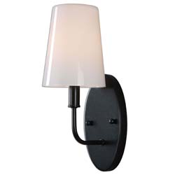 Uttermost Articulo 1 Light Black Iron Sconce