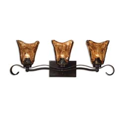 Uttermost 22801 Vetraio 3 Light Bronze Vanity Strip