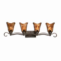 Uttermost 22845 Vetraio 4 Light Bronze Vanity Strip