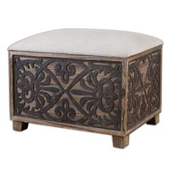 Uttermost 23132 Abelardo Cushioned Small Bench
