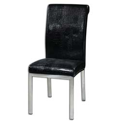 Uttermost 23140 Zaidee Black Accent Chair