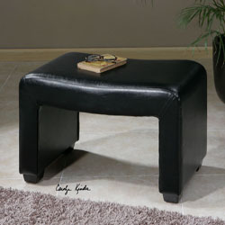 Uttermost 23150 Pepina Leather Bench