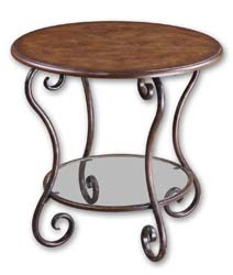Uttermost 24111 Felicienne Wooden Top Accent Table