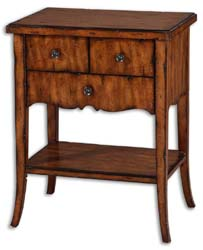 Uttermost 24140 Carmel Wood End Table