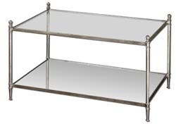 Uttermost 24281 Gannon Mirrored Glass Coffee Table