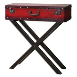 Uttermost 24379 Taggart Red Console Table