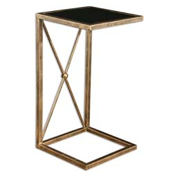Uttermost 25014 Zafina Gold Side Table