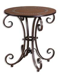 Uttermost 26111 Lyra Round Accent Table