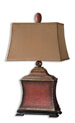 Uttermost 26326 Pavia Red Table Lamp