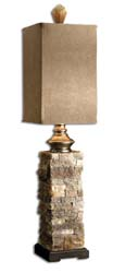Uttermost 29093-1 Andean Layered Stone Buffet Lamp
