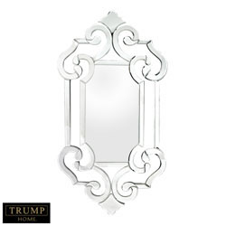 Glass Scroll Work Mirror