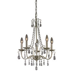 Antique Silver Chandelier In Silver / Clear