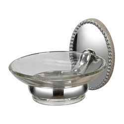 Soap Dish Holder In Chrome/ Glass