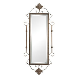 Rectangle Mirror  With Scroll Surround