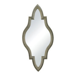 Jacarand-Moroccan Inspired Mirror In Silver Frame