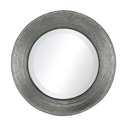 La Quinta-Mini Mirror In Hammered Metal Frame
