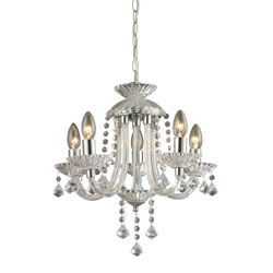 Kessock-5 Light Mini Chandelier In Clear And Chrome