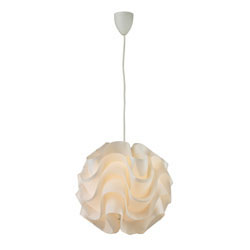 Balvorie-Contemporary Wave Pendant In White