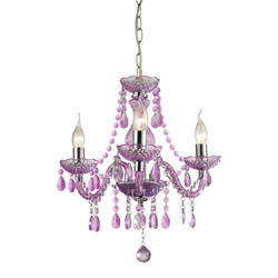 Theatre-3 Light Purple Mini Chandelier