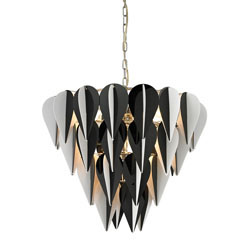 Ashreigh-Mod Inspired Black And White 3 Tier Pendant