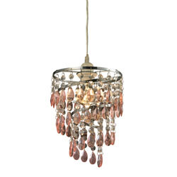Forres-Pink And Clear Mini Pendant