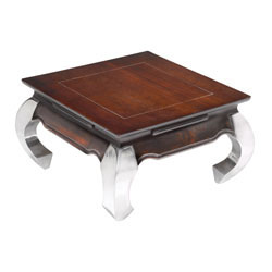 Opium End Table 60 With Aluminum Legs