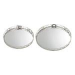 Set of 2 Mirrored Ring Tray