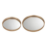 Set of 2 Mirrored Greek Key Tray