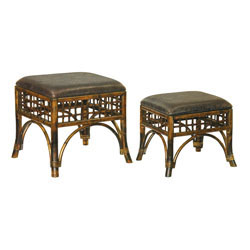 Set of 2 Stitch Point Ottoman