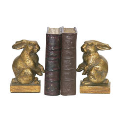 Pair Of Baby Rabbit Bookends