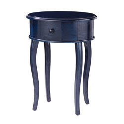 Accent Table In Navy With Drawer