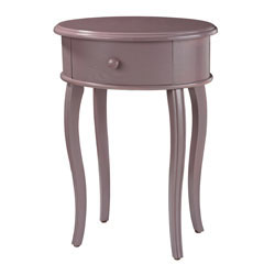 Accent Table In Lilac With Drawer