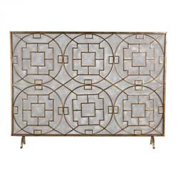 Geometric Fire screen