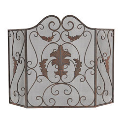 Iron Scroll Work Fire screen