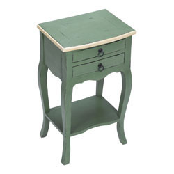 French Green & Cream Side Table