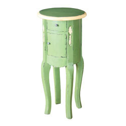 Sutter End Table French Green & Cream