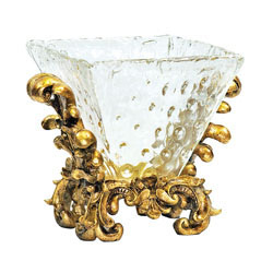 Fanciful Knob Glass Bowl On Stand