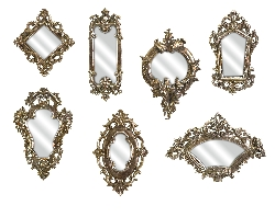 IMAX 52977-7 Loletta Victorian Inspired Mirrors - Set of 7