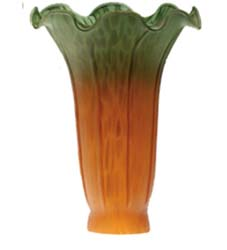 "Meyda Tiffany 4""W X 6""H Amber/Green Pond Lily Shade"
