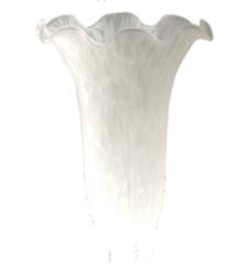 "Meyda Tiffany 3""W X 5""H White Pond Lily Shade"