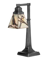 "Meyda Tiffany 19.5""H Early Morning Visitors Desk Lamp"