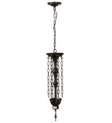 "Meyda Tiffany 20""W Mahogany Bronze 4 Lt Inverted Pendant Hardware"