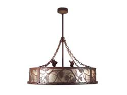 "Meyda Tiffany 44""W Whispering Pines W/Uplight Chandel-Air"