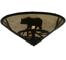 "Meyda Tiffany 17""W Bear On The Loose Flushmount"