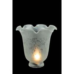 "Meyda Tiffany 5""W Revival Ruffle Frosted Etched Shade"