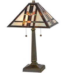"Meyda Tiffany 23.5""H Prairie Wheat Table Lamp"